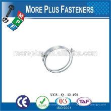 Fabriqué à Taiwan en acier inoxydable fort en acier inoxydable pinces de serrage mince flexible de serrage