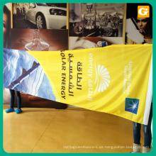 Gran formato de sublimación de impresión de poliéster tejido de la bandera para publicidad
