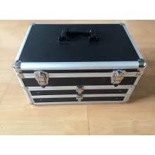Neuer Design Hard Case Werkzeugkasten Aluminium-Aufbewahrungs-Werkzeugkoffer mit zwei Schubladen (KeLi-Schublade-1020)