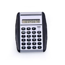 Pocket calculator with plastic cover