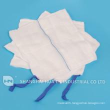 100% cotton medical high absorbent abdomonal spondage
