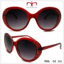 Gafas de sol de plástico de las señoras con el Rhinestone (WSP508370)