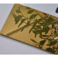 high quality mirror/brush finished aluminum composite panel decorative sheet
