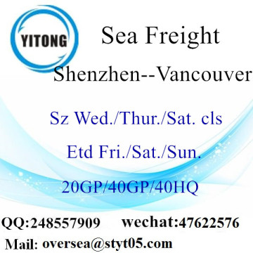 Shenzhen Port Sea Freight Shipping À Vancouver