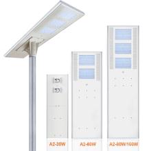 Integriert in eine Solar-LED-Straßenlaterne