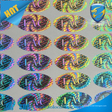 La mejor etiqueta engomada del holograma de la calidad / etiqueta engomada de la etiqueta engomada del holograma de la seguridad de los efectos de escritorio /
