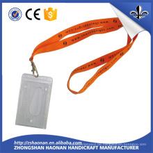 Fabrik direkt Polyester ID Karte Lanyard mit Clip