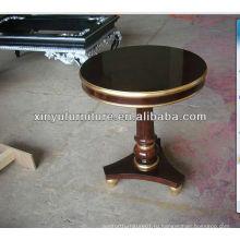 Темно-коричневый цветной журнальный столик из натурального дерева C1008