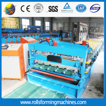 Trapezoid Steel Tile Forming Machine For Sheet Glazed