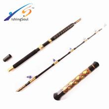 GMR097 aparejos de pesca al por mayor de gran alcance de la pesca de caña grande barra de curricán con guías de rodillos