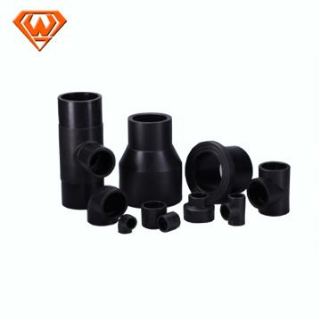 Encaixes de juntas de fusão de tomada de tubo PE preto