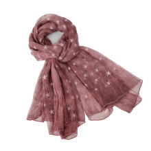 Latest 100% Silk Embroidery Long Scarf with tie dyeing color