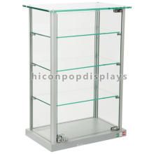 Lockable Counter Top Glass Toys Display 4-layer Jewelry Display Showcase Design