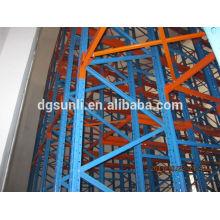 Сертификат ISO9001 челнока рейдио хранения металла паллетные стеллажи системы