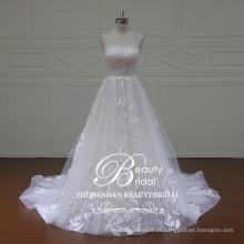 Produção chinesa 2017, vestido de noiva sem alças com estilo de princesa fofa