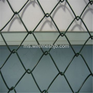 Green PVC Coated Chain Link Fence / Diamond Wire Mesh