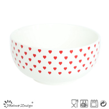 Delicated Light New Bone China with Decal Otameal Bowl