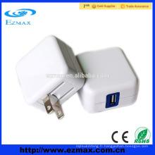 Portable 5v 2.1A usb chargeur mobile rapide avec fiche US pliable