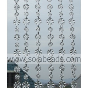 per partito 14MM & 18MM & 22MM cristallo plastica Beaded Trim catena
