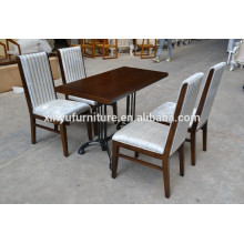 High class restaurant metal table and chair set XYN559