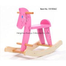Alto, madeira, bebê, balanço, cavalo-madeira, balancim, flor
