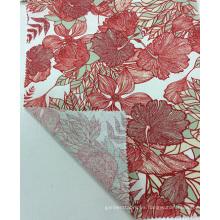 Lino / viscosa tela de la ropa de Printedf de calidad, tela de materia textil casera