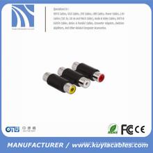 Adapteur 3RCA vers 3RCA Adaptateur Câble Coupleur AV RCA AV