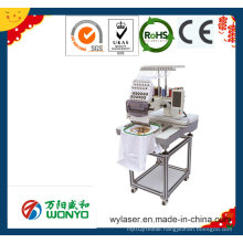 Single Head Embroidery Machine Embroidery on Cap, T-Shirt and Flat Bed