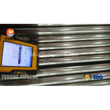 Stainless Steel Bright Anil TP304 ASTM A249 tabung