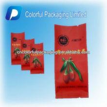 L'emballage organique d'emballage de baie de goji séché / coloful a limité le sac d'emballage en plastique / sac d'emballage sûr de nourriture