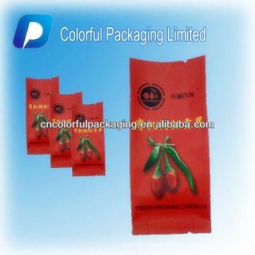 Orgânica Seca baga goji embalagem / coloful embalagem limitada saco de embalagem de plástico / comida segura saco de embalagem