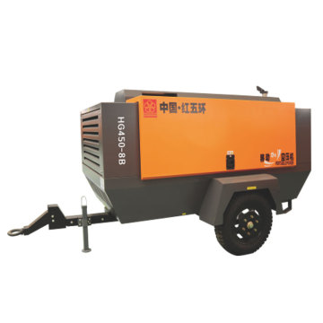 HG450L-8 diesel portable screw air compressor 100L