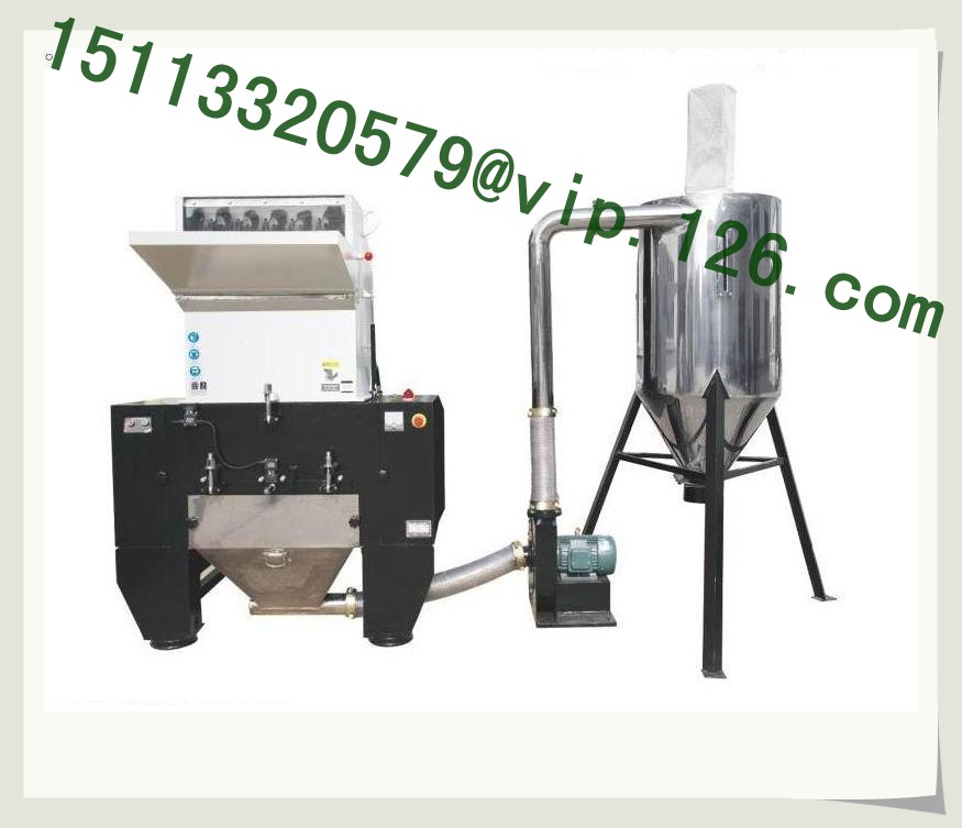 Plastic crushing and automatic collecting system