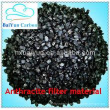 Material de filtro BaiYun antracita para tratamiento de agua