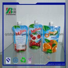 Custom Printng Matt Black Vacuum Sealed Bag Plastic Packaging Printing Doypack with Spout for Juice, Wine, Milk and Beverage Packaging