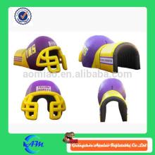 Tenda inflable de alta calidad del túnel, túnel inflable del casco de fútbol americano