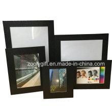 8X10 Black texturizados papel de arte promocional Gift Photo Frame