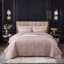 Hotel Textile Cameo Brown Bedspread Cover Cal King Soft All-Season