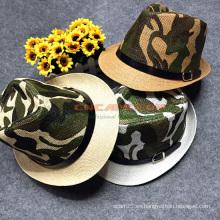 Sombrero de camuflaje de ocio personalizado Fedora Style