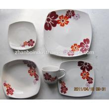 Nuevo producto de cena de porcelana de diseño colorido / cena de cerámica conjunto