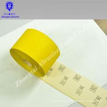 cinturón de papel de arena impermeable amarillo