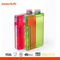 Reusable Made from Recycled BPA Free Plastic Slim Water Bottle