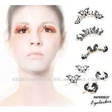 2015 fashion design free sample false paper eyelashes and eyelash sticker