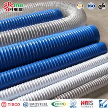 Tubo de aspiración y descarga de PVC corrugado / tubo de succión de PVC