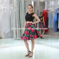OEM manufacturer women garments fashion evening gowns tie pleated short flare dress