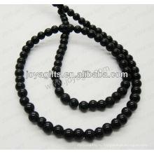 Черные ониксовые круглые бусины / 4mm / 6mm / 8mm / 10 / mm / 12mm grade A