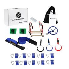 Backyard Outdoor Ninja Slackline Obstacle Course Kit
