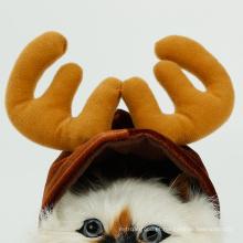 Chapéu de gorro de veado de Natal de Halloween para gato de chapéu de gato pequeno