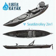4,3 m de comprimento PE caiaque Pesca Sots Design by Liker