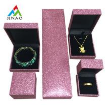 Coffret à bijoux en plastique avec papier glitter